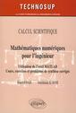 Couverture de l'ouvrage Mathématiques numériques pour l'ingénieur. Utilisation de l'outil MATLAB