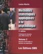 Couverture de l'ouvrage Méthodes statistiques appliquées à la psychologie