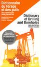 Couverture de l'ouvrage Dictionnaire du forage et des puits Anglais/Français-Français/Anglais