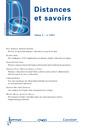 Couverture de l'ouvrage Distances et savoirs Vol.9 N° 1/JanvierMars 2011