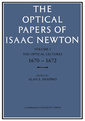 Couverture de l'ouvrage The optical papers of isaac newton: volume 1 the optical lectures 1670–1672, volume 1 the optical lectures 1670–1672