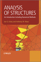Couverture de l'ouvrage Analysis of structures: an introduction including numerical methods (hardback)