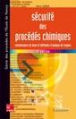 Couverture de l'ouvrage Sécurité des procédés chimiques