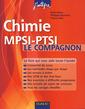 Couverture de l'ouvrage Chimie MPSI-PTSI. Le compagnon (J'intègre)