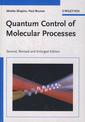 Couverture de l'ouvrage Quantum control of molecular processes