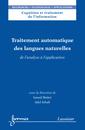 Couverture de l'ouvrage Traitement automatique des langues naturelles