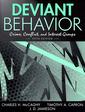 Couverture de l'ouvrage Deviant behavior (5th ed )