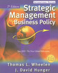 Couverture de l'ouvrage Strategic management and business policy (7th ed )