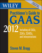 Couverture de l'ouvrage Wiley practitioner's guide to gaas 2012: covering all sass, ssaes, ssarss, and interpretations (paperback)