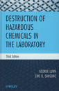 Couverture de l'ouvrage Destruction of hazardous chemicals in the laboratory