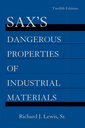 Couverture de l'ouvrage Sax's dangerous properties of industrial materials (3-Volume print package)