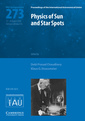 Couverture de l'ouvrage Physics of sun and star spots (iau s273)