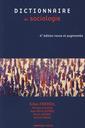 Couverture de l'ouvrage Dictionnaire de sociologie