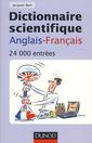Couverture de l'ouvrage Dictionnaire scientifique anglaisfrançais (24 000 entrées)