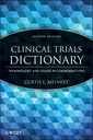 Couverture de l'ouvrage Clinical trials dictionary: terminology and usage recommendations