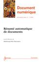 Couverture de l'ouvrage Résumé automatique de documents (Document numérique - RSTI Volume 15 N° 2/ Mai-Août 2012)